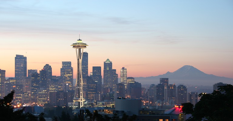 The Space Needle seen at sunset | © Rattlhed/WikiCommons