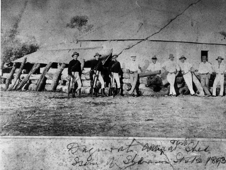 Troopers at Dagworth Station during the Shearer's Strike in 1894 | © Unknown / WikiCommons