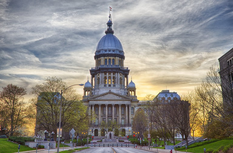 Illinois State Capitol, courtesy of Flickr: Patrick Emerson