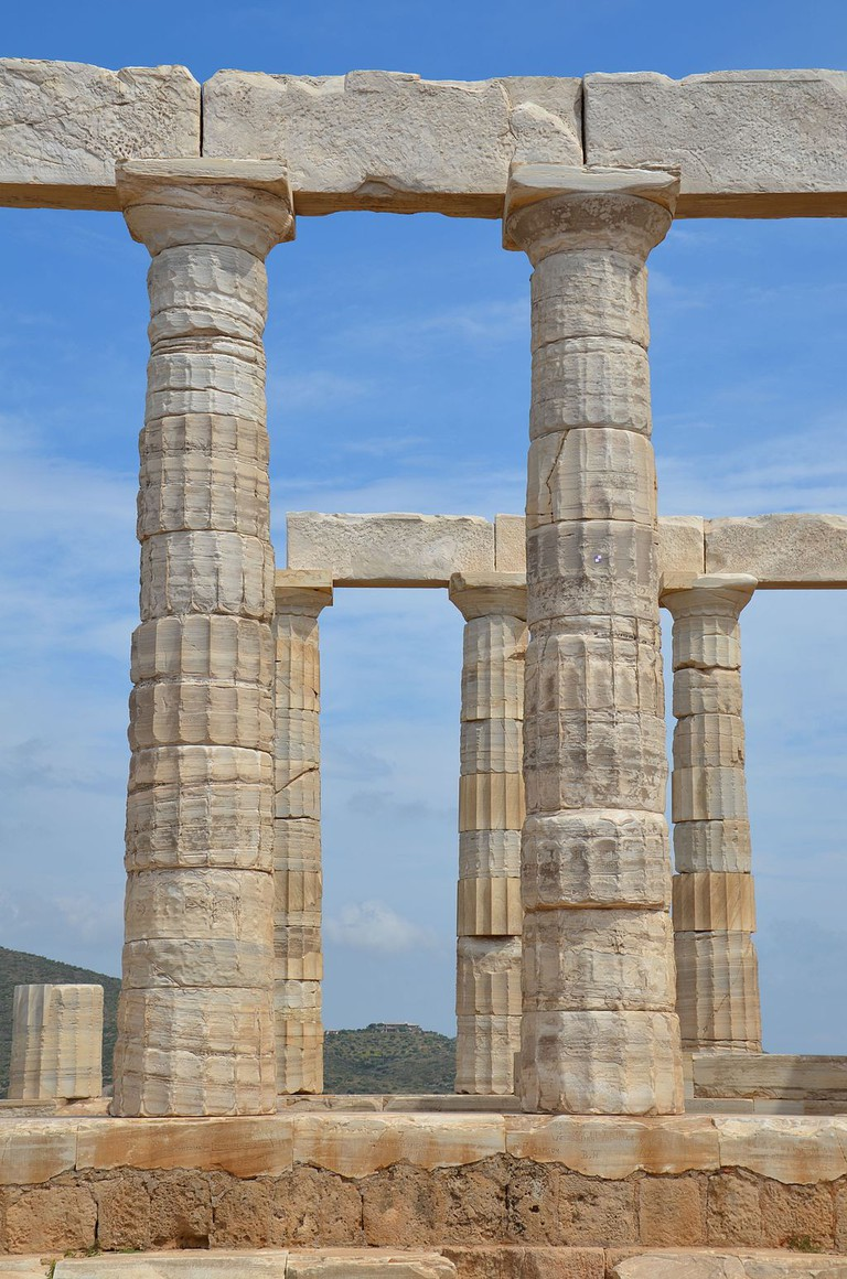 Columns of the Temple of Poseidon, Cape Sounion, Greece © Carole Raddato /WikiCommons