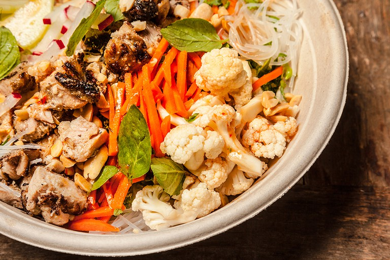 Vietnamese Chicken Salad with Lemongrass chicken and mung bean noodles | Courtesy of Everytable