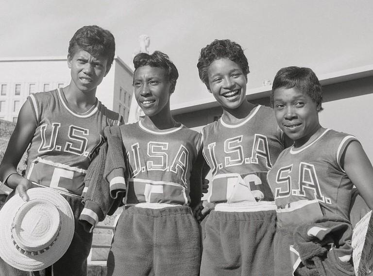 Wilma Rudolph, Lucinda Williams, Barbara Jones, Martha Hudson at the Rome Olympics   © Wikimedia Commons