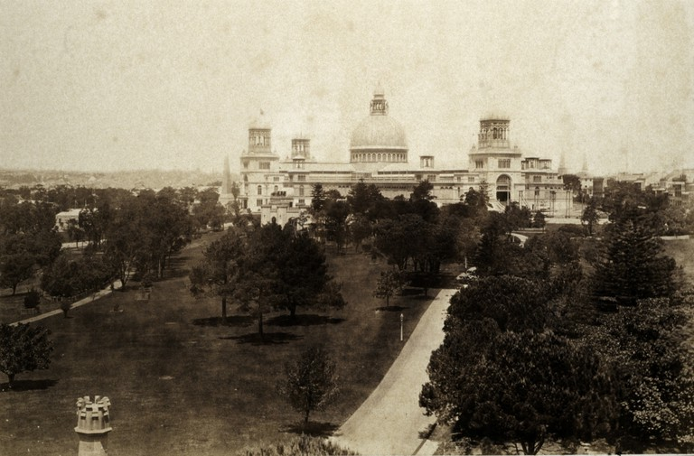 Exterior, the Garden Palace, Sydney, c1879. | Courtesy of Museum of Applied Arts and Sciences, Sydney.