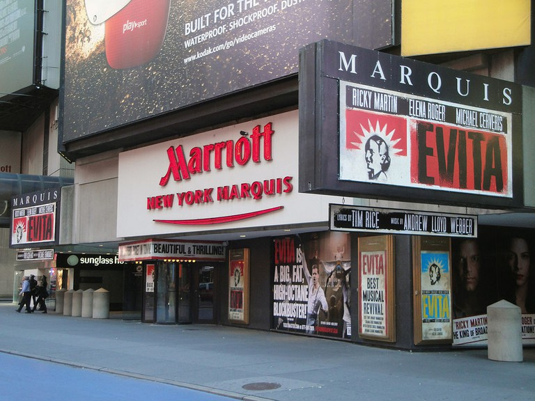 Outside The Box Office At The Marquis Theater | © Wikipedia Commons