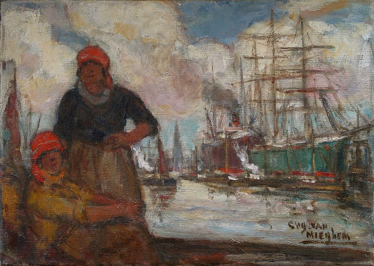 Women of the docks, by Eugène Van Mieghem (1875 1930)   © Eugène Van Mieghem