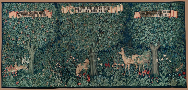 "Morris & Co ""Tapestry: Greenery"" 1892|©Plum leaves/Flickr"