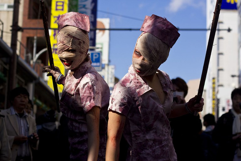 Fans dress up as creatures from Silent Hill at a street festival in Osaka   © Japanexperterna.se/WikiCommons