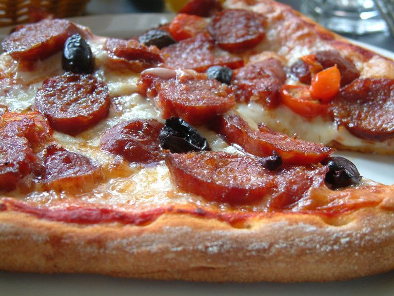 Pizza from Regina Pizzeria| ©H. Michael Karshis/Flickr