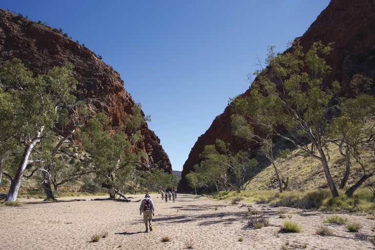Larapinta Trail by World Expeditions, Simpson's Gap, West MacDonnell Ranges, NT | Courtesy of World Expeditions / Great Walks of Australia © Graham Michael Freeman