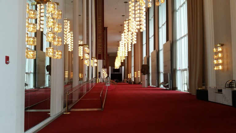 The entrance to the Kennedy Center Opera House