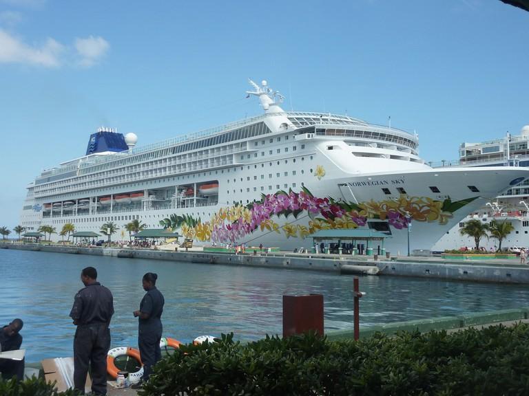 Norwegian Sky docked in Nassau Bahamas   Courtesy of Lisa Jacobs/Flickr