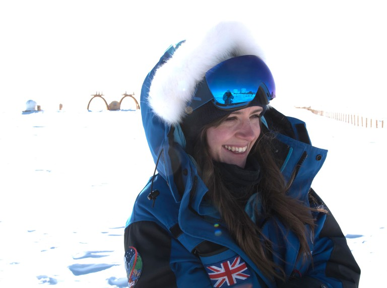 Beth Healey In Antarctica|Courtesy of New Scientist Live