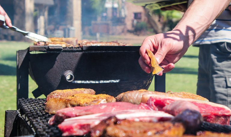 South African braais, or barbecues, are meat-heavy and feature local flavors and variations