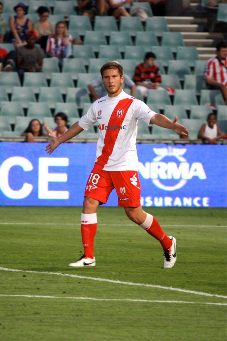 David Vrankovic with Melbourne Heart FC 2012 against Wanderers FC | ©Petrija/WikipediaCommons