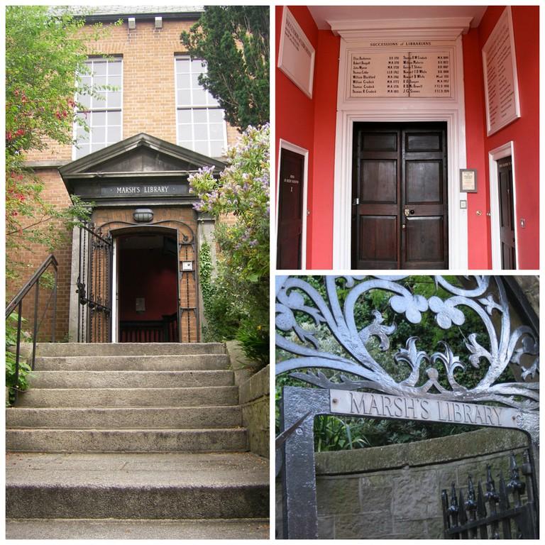 Marsh's Library entrance | © William/Flickr / Interior door | © Sitomon/WikiCommons / Gate |© Janet McKnight/Flickr