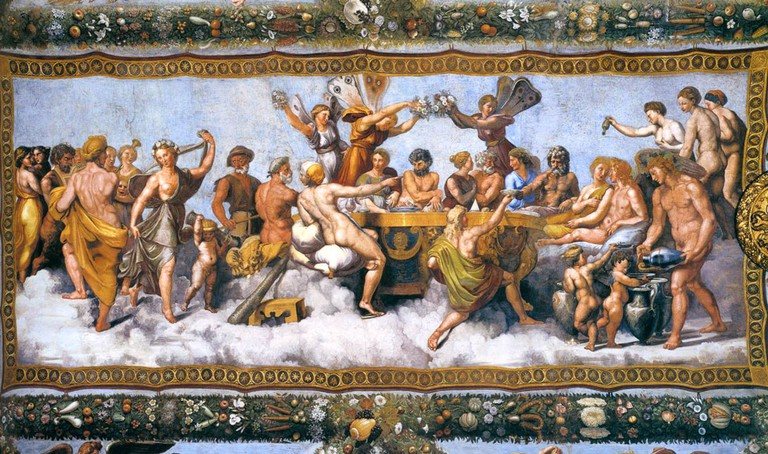 Raffaello's The Wedding Banquet of Cupid and Psyche | © WikiCommons