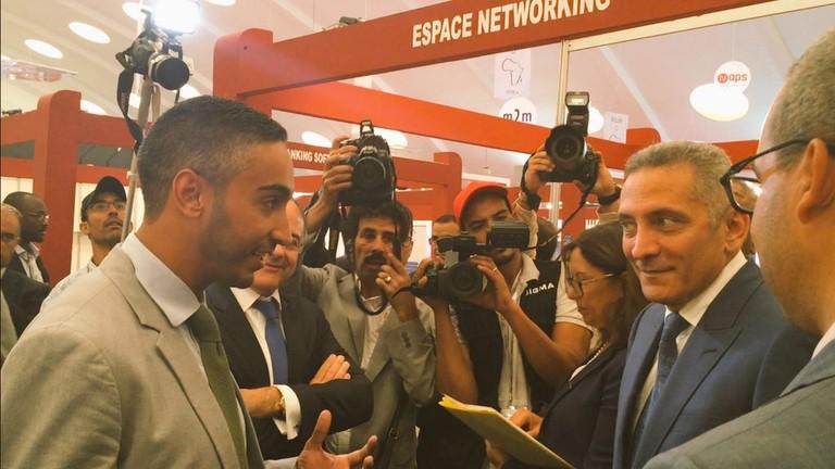 Jobi.ma CEO Hafed Aziz meets with Moroccan minister Minister Moulay Hafid Alamy ©Jobi.ma