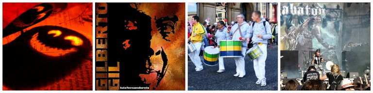 Halloween party | © aotaro/Flickr | Gilberto Gil | © Luiz Fernando Reis/Flickr | Samba music | © Paisley Scotland/Flickr | Sabaton | © dr_zoidberg/Flickr