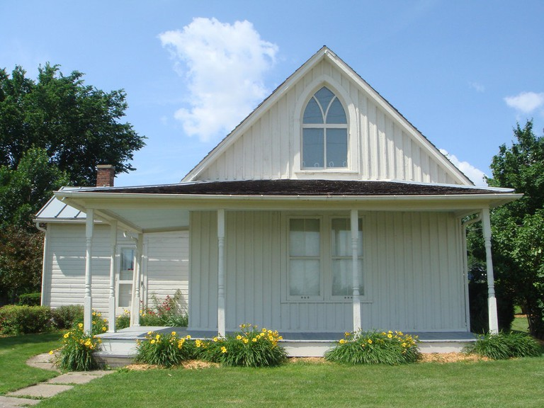 Dibble House, the inspiration for 'American Gothic'|©Jessica Strom/Wikicommons