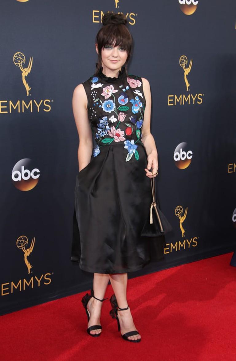 Matt Baron/REX/Shutterstock  Maisie Williams 68th Primetime Emmy Awards, Los Angeles, Sep 2016