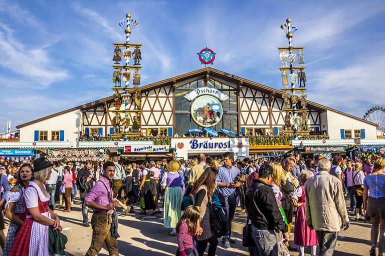 One of the many beer tents at Oktoberfest