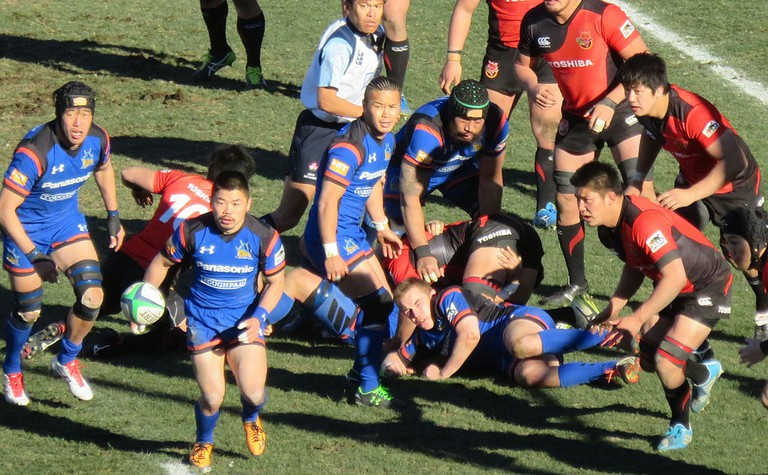 Toshiba Brave Lupus during the Top League Final, 2015-16 | © L-Crt.Rocks are Trad.Jap.Terr.|WikiCommons