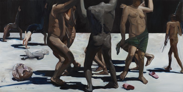 Wang Zhibo, 'Dancing is Better', 2015, Oil on linen, 78.5x90cm | Courtesy of Edouard Malingue Gallery