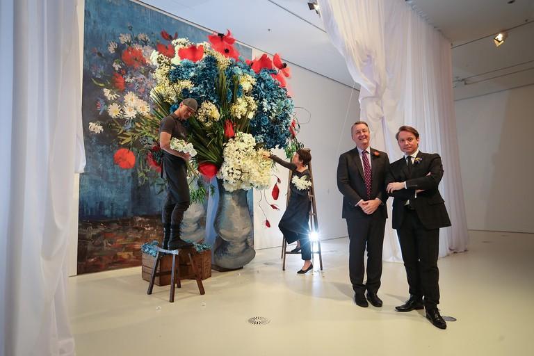 Media Announcement photos - Flowers Vasette installationfrom Elisabeth Alexander
