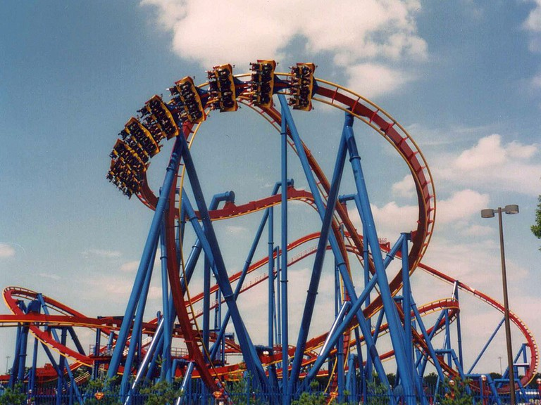 Roller coaster at Six Flags Great Adventure | © Wikipedia Commons