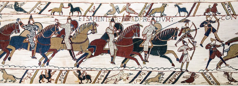 Scene from the Bayeux Tapestry|©Myrabella/Wikicommons