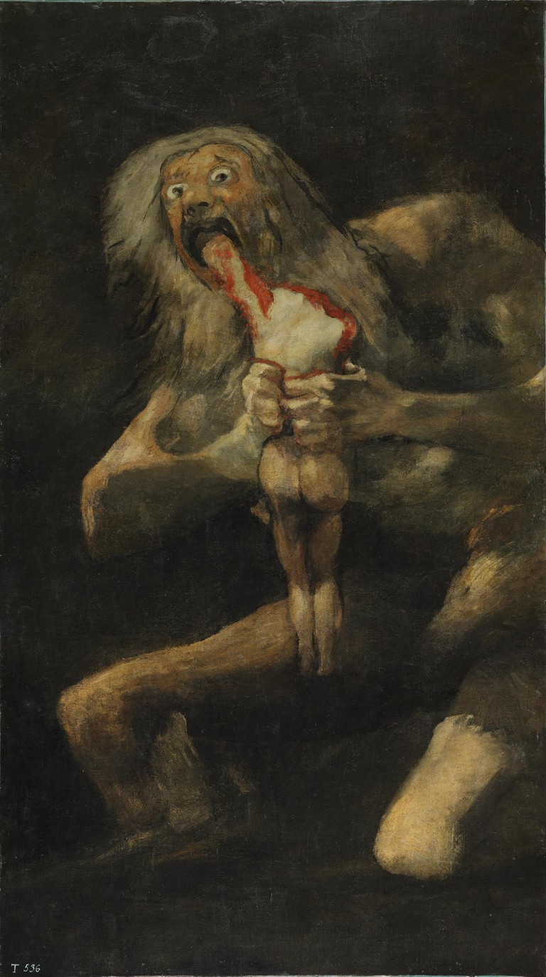 Francisco De Goya, Saturn Devouring His Son, 1819-1823. © Wiki Commons