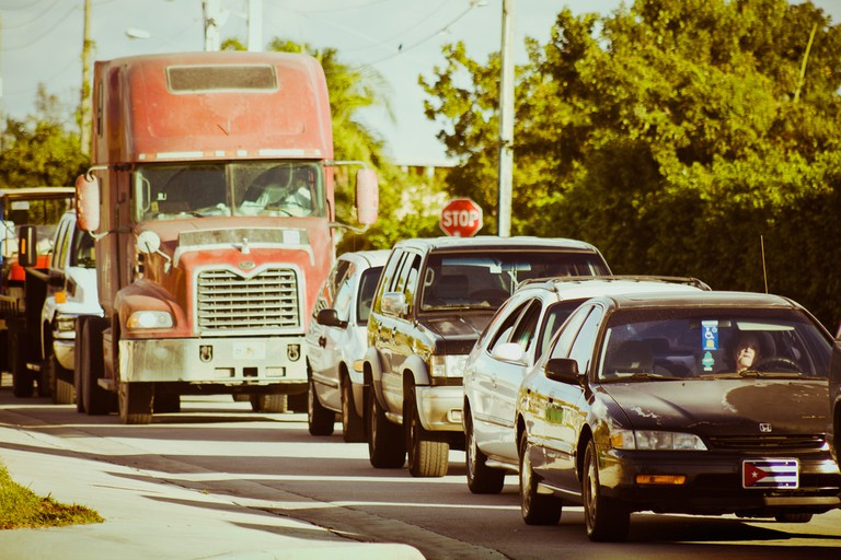 Miami traffic can test your nerves. Just relax, put the radio on, and plan your getaway | Courtesy of Aaron Escobar/Flickr