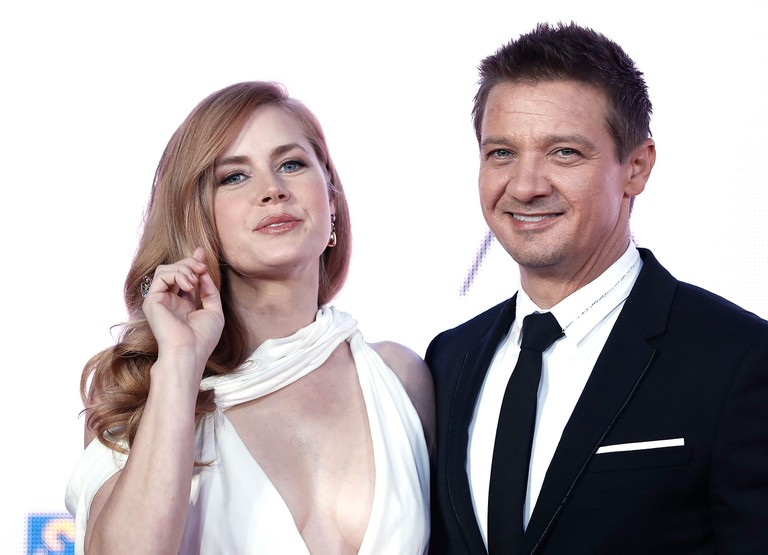Amy Adams and Jeremy Renner attend the 'Arrival' Royal Bank Of Canada Gala screening during the 60th BFI London Film Festival at Odeon Leicester Square on October 10, 2016 in London, England. (Photo by John Phillips/Getty Images for BFI)