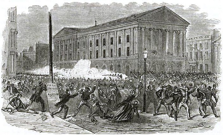 Astor Place Opera-House riots | NYPL Digital Gallery / Wikicommons