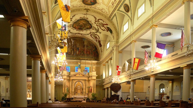 Inside the historic Saint Louis Cathedral