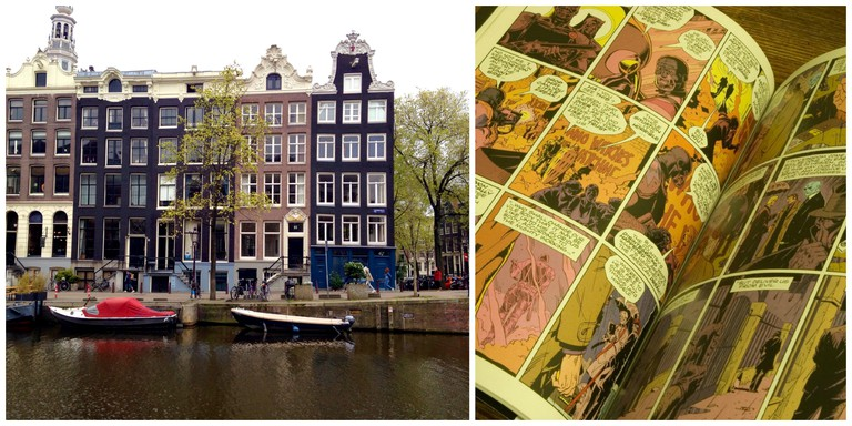 The Book Exchange is on Kloveniersburgwal- a beautiful central canal | © Chajm Guski / Flickr / A page from Alan Moore's Watchmen | © dailyinvention / FLickr