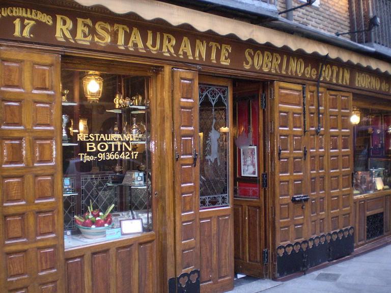 Restaurante Sobrino Botín, Madrid   ©Esetena