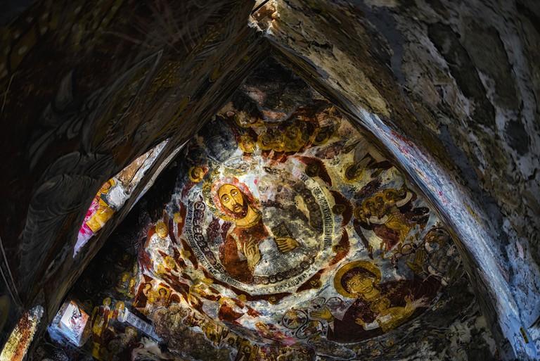 Interior artwork of Sumela Monastery ©Okyay / Shutterstock
