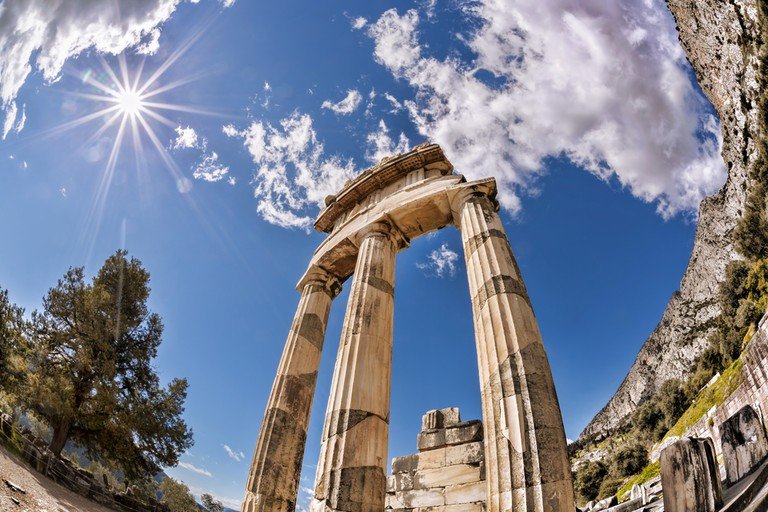 Delphi with ruins of the Temple in Greece © Samot / Shutterstock