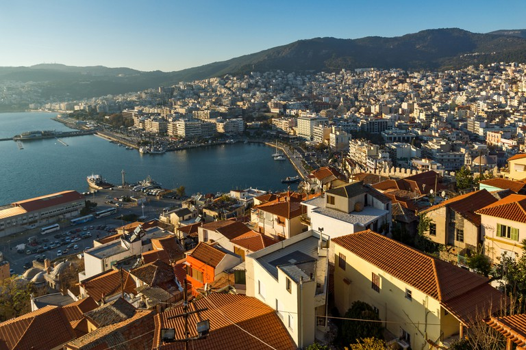 Panorama to old town and port of Kavala, East Macedonia and Thrace, Greece © Stoyanh / Shutterstock