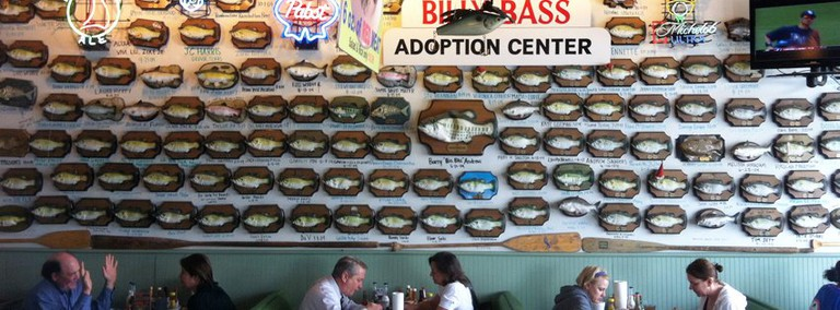 The Billy Bass Wall at Flying Fish | Courtesy of Flying Fish, Little Rock, AR