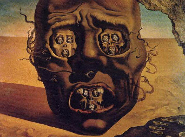 Salvador Dalí, The Face of War, 1940. Museum Boijmans Van Beuningen, Rotterdam