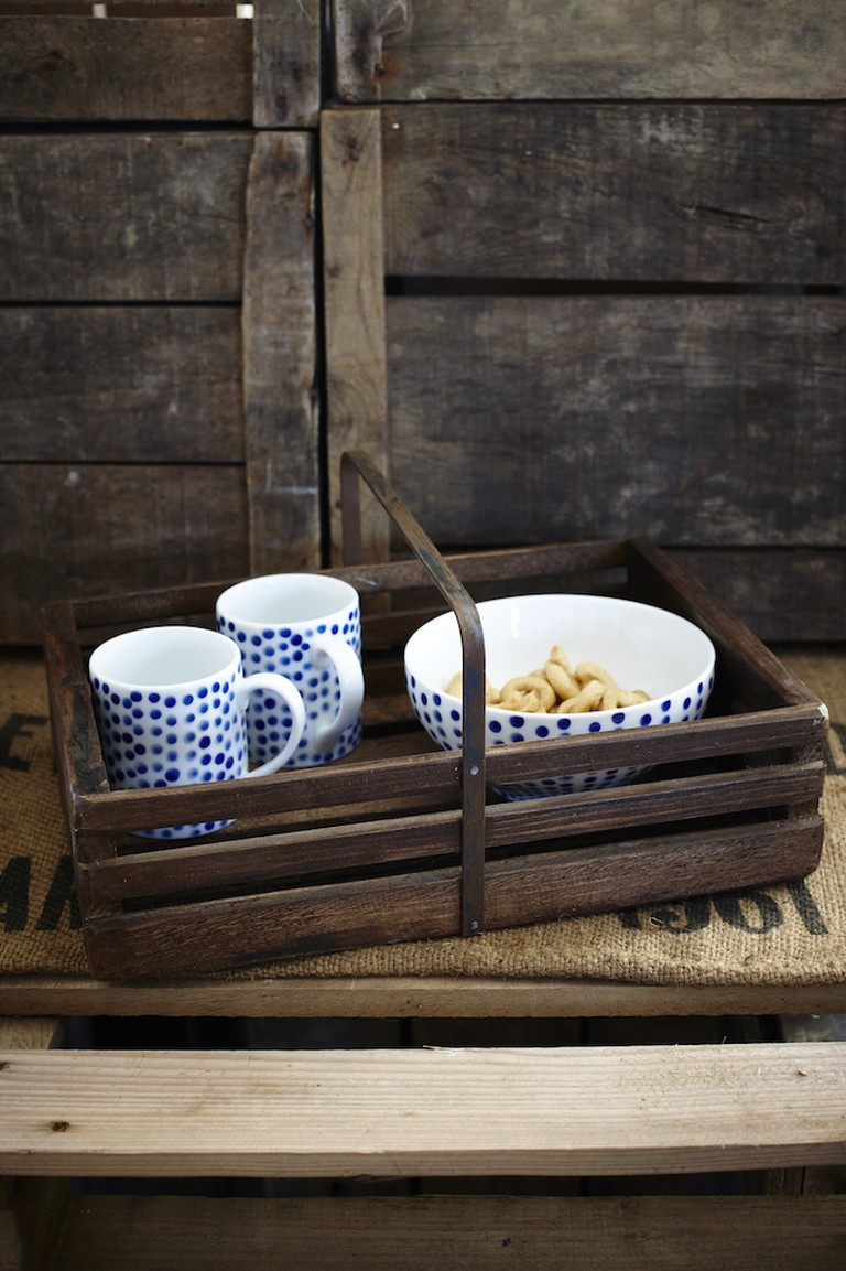 Vintage-style wooden trug from Also Home