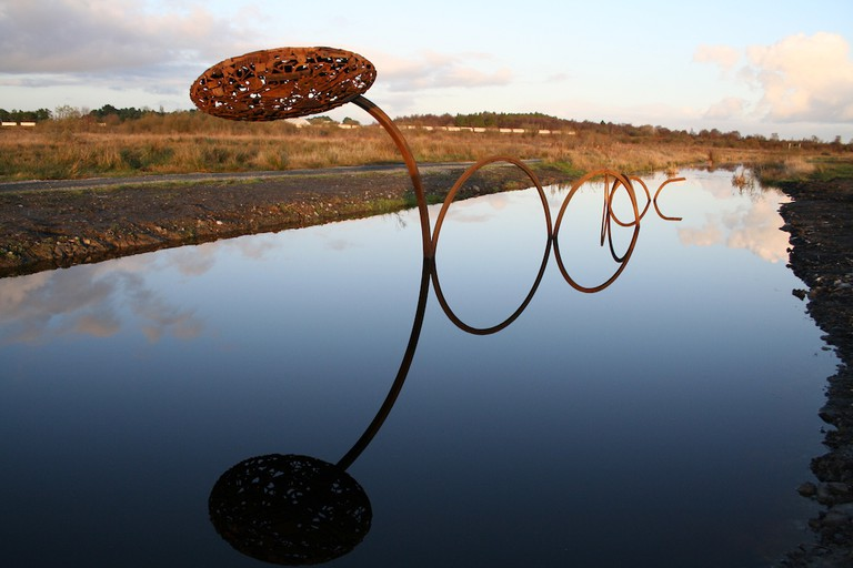 System No. 30 sculpture by Julian Wild | Courtesy of Lough Boora Discovery Park