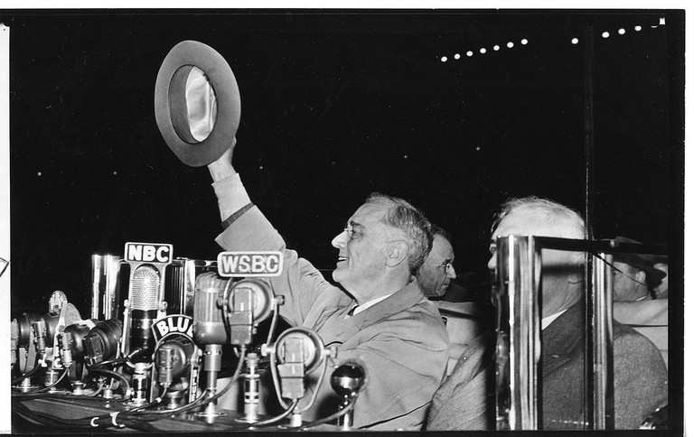 President Franklin D. Roosevelt at Soldier Field | © FDR Presidential Library & Museum/WikiCommons
