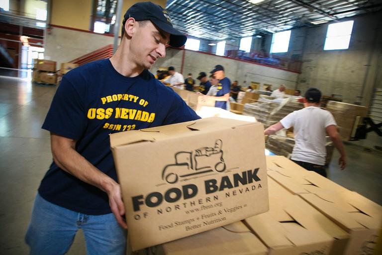 Food bank © U.S. Navy/Wikipedia