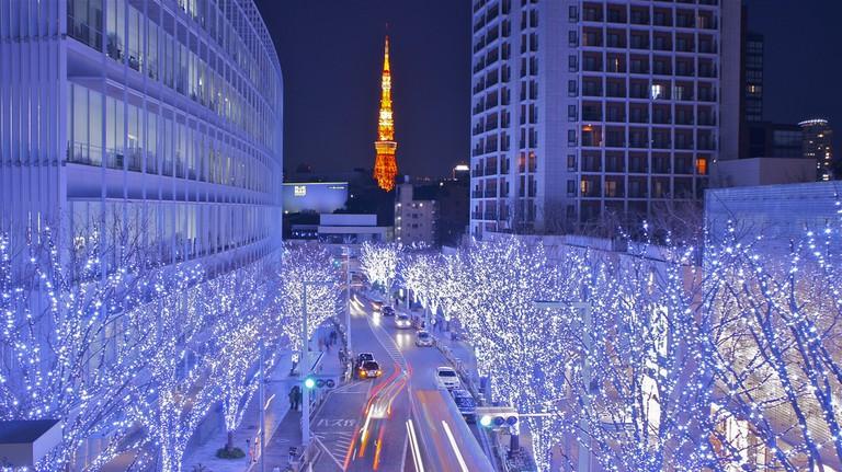 Tokyo Tower and Roppongi Christmas | © Manish Prabhune/Flickr