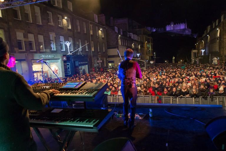 Castle Street Stage | © Tartanzone Photo / Courtesy Of Edinburgh's Hogmanay