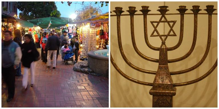 Olvera Street | © David Moore/Wikipedia / Hanukkah | © Yoav Nachtailer/Wikipedia