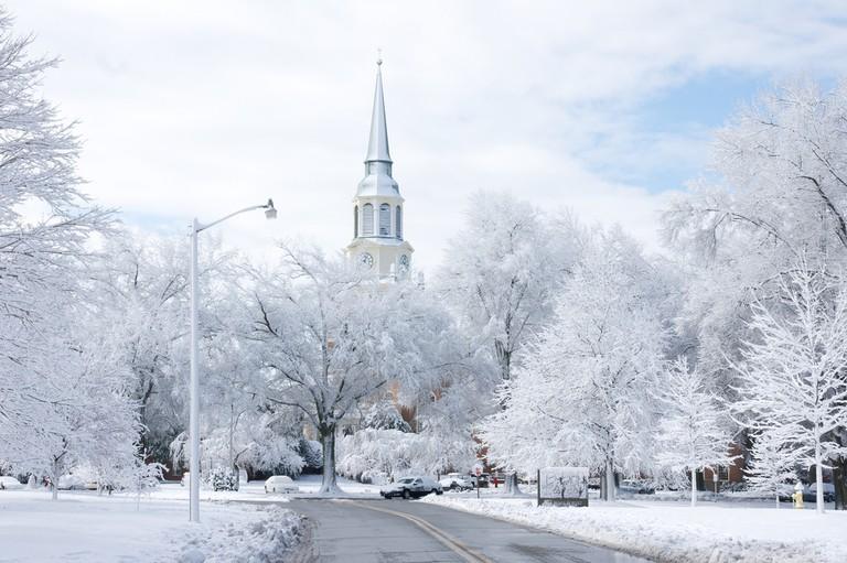 Snow at Wake Forest University | © Alex Massengale/Flickr